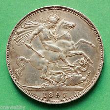 1897 Queen Victoria Silver Crown LXI SNo39946