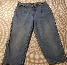 Bill Blass Women's Capri Jeans Easy Fit Capri Size 12 Medium Wash Denim Jeans