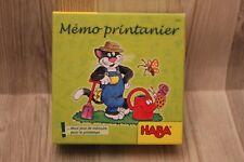 HABA Mémo printanier - jeu de mémoire - jeu éducatif pour enfants - complet