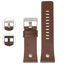 StrapsCo 28mm Brown Leather Watch Band Strap w/ Rivet for Diesel