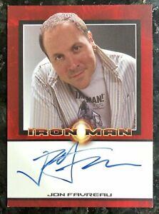 JON FAVREAU autograph 2008 Marvel Rittenhouse IRON MAN MOVIE auto Mandalorian
