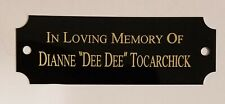 """1"""" x 3"""" BLACK/GOLD NOTCHED NAME PLATE FREE ENGRAVING TROPHIES PLAQUES ART"""
