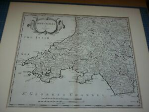 Robert Morden Map. South Wales