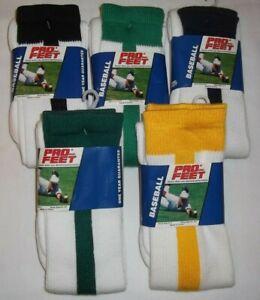 Pro Feet Adult Maximum Performance Sport Socks 298 Baseball Football 4 Pair 9-11