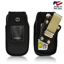 Turtleback Samsung C414 Fitted Leather Phone Case with Rotating Metal Belt Clip