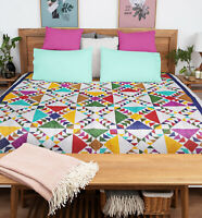 Wild Goose Chase FINISHED QUILT - Graphic multi color, Queen bed