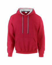 Sudaderas con capucha de hombre rojos grises