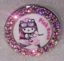 TARINA TARANTINO HELLO KITTY PINK HEAD ADJUSTABLE PINK CRYSTAL RING