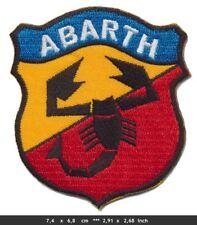 ABARTH CLASSIC Aufnäher Aufbügler Patch Auto Fiat Lancia Tuning Italien Italy
