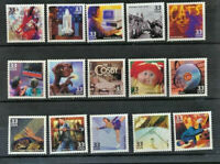 3190 a-o 1980's Celebrate The Century 15 Vals Mint NH Singles Cplt Retail $24.50