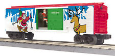MTH 30-79430, O Scale, Operating Box Car w/Santa - Christmas