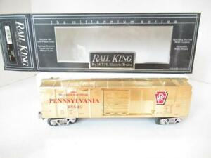 MTH TRAINS - 7446 MILLENIUM PENNSYLVANIA GOLD PLATED FINISH BOXCAR- LN- HB1