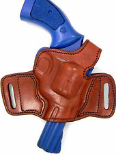 "TAGUA BROWN LEATHER MINI THUMB BREAK OWB BELT HOLSTER-TAURUS 85  605 2"" REVOLVER"