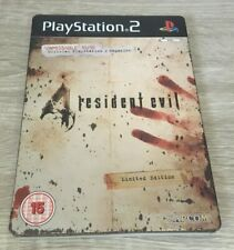 RESIDENT EVIL 4 PS2 (Limited Edition Steelbook) PAL CAPCOM SHOOTER GAME W/M