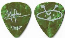 Sevendust white/green pearl tour guitar pick