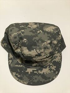 NEW US Military Issue Army Combat Uniform ACU Camouflage Patrol Hat Cap  7-5/8
