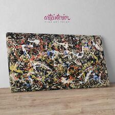 Jackson Pollock, Convergence - Stampa Fine Art su tela Canvas Quadro Astrattismo