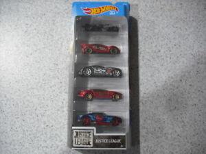 HOT WHEELS 5 PACK BATMAN SUPERMAN JUSTICE LEAGUE DIE CAST