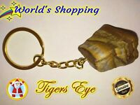 Genuine Tigers Eye Gemstone Keyring #TE1 81+ Carats