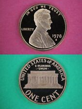 1978 S Proof Lincoln Memorial Cent Penny Cameo Beautiful Coin Flat Rate Shipping
