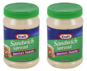 2 Kraft Sandwich Spread 15 Ounce Jars