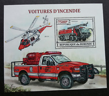 Burundi Fire Brigades 2013 Engines Helicopter Vehicle Fighting Rescue (ms) MNH