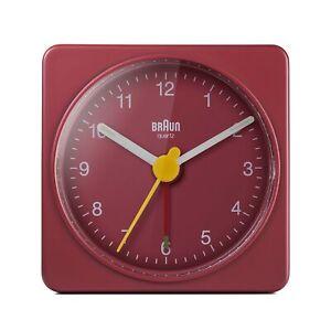 Braun Classic Travel Analogue Alarm Clock, Compact Size, Quiet Quartz BC02R