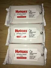 160 New 4X40 Wipes Huggies Simply Clean Wipes Triple Clean Layers Fragrance Free