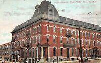 Fort Scott Kansas 1908 Postcard Masonic Hall