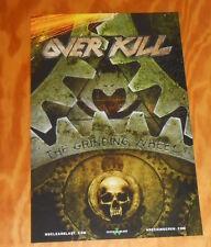 Over kill The Grinding Wheel Poster Original Promo 11x17
