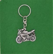 ENGLISH PEWTER - MOTORBIKE - KEYRING KEYCHAIN HARLEY SUZUKI BIKER
