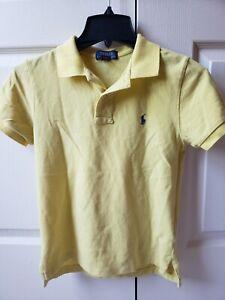 Ralph Lauren Boy's Custom Fit Polo tee Size 10-12 Yellow