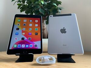 MINT - Apple iPad mini 4 128GB, Wi-Fi + Cellular, 7.9in - Space Grey (Unlocked)