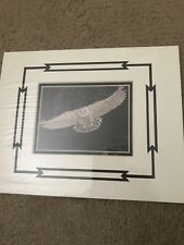 Vintage White Owl Night Hunt By Marguerite Fields Signed