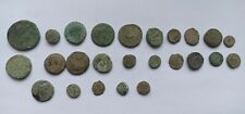 LOT OF 25 UNCLEANED ANCIENT GREEK BRONZE COINS 400-300 B.C.