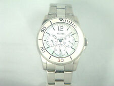 Guess  watch for women with white dial and stainless steel band