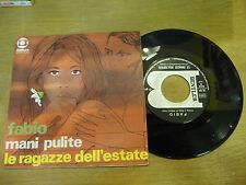 "FABIO""MANI PULITE-disco 45 giri BENTLER Italy 1969"" BEAT Italy"