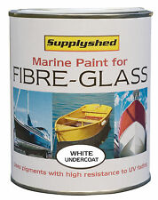SUPPLYSHED Marine Boat Undercoat WHITE Paint for Fibreglass and GRP 750ml