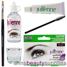 Julienne Eyelash Eyebrow Tinting Kit Dye Brush Dish Oxidant Permanent D Brown