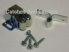 2 x Twin Roller Spring Catches Steel Galv. Cupboards Plinths Caravans FREE P&P