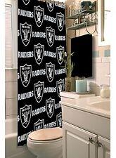 Oakland Raiders NFL Bath Shower Curtain Bathroom Licensed Washable Fabric