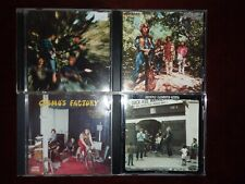 Creedence Clearwater Revival 4 CD lot Bayou Country, Green River, Willy & the...
