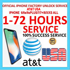 FAST FACTORY UNLOCK SERVICE CODE AT&T ATT Apple iPhone 6/6s/6sPLUS/7/7+/8/X/XS <br/> ✅Express Fast 1-72hrs ✅AT&T USA ✅Official Permanent