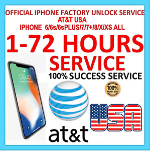 FAST FACTORY UNLOCK SERVICE CODE AT&T ATT Apple iPhone 6/6s/6sPLUS/7/7+/8/X/XS