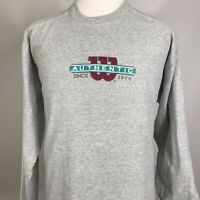 Vintage Authentic Wilson ATHLETICS Long Sleeve GRAY 90s T Shirt MENS 2XL