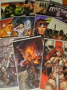 Damaged Exclusive Comic Lot 11 Variants Batman Campbell Spider-man Gwenom VF ASM