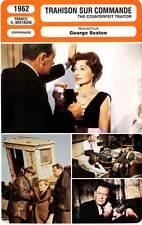 FICHE CINEMA : TRAHISON SUR COMMANDE - Holden,Palmer 1962 Counterfeit Traitor