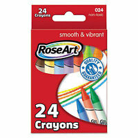 Rose Art 24 Count Smooth And Vibrant Crayons NEW Supplies Crafts