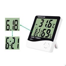 Higrómetro Digital Termometro Reloj Despertador Medidor de Humedad Higrometro