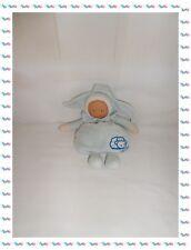 ♪ - Doudou Poupée Lutin Bleu Bonnet Pointes Collerette Mouton  Corolle